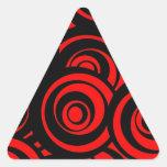 Círculos rojos pegatinas de trianguladas