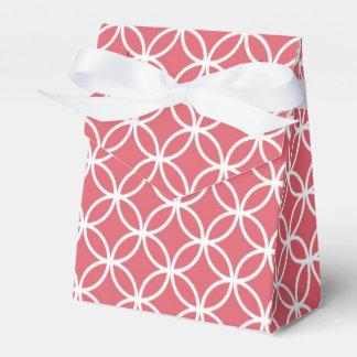 Círculos rojos y blancos del infinito cajas para regalos de fiestas
