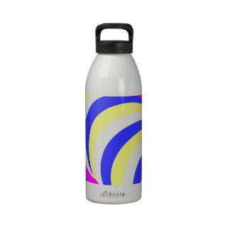círculos rosados botella de agua reutilizable