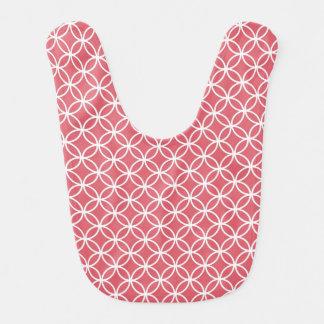 Círculos rosados del infinito baberos para bebé