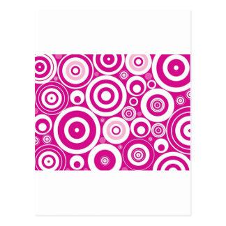 Círculos rosados frescos tarjeta postal