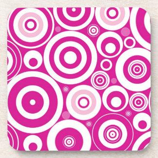 Círculos rosados posavasos