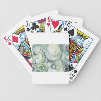 Círculos serenos expresionismo abstracto baraja de cartas