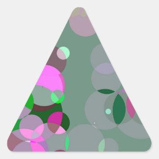 Círculos soñadores pegatina triangular