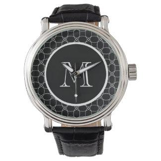 Círculos traslapados relojes de mano