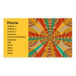 Círculos verdes anaranjados modernos plantilla de tarjeta de visita