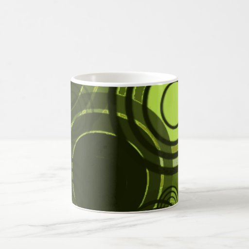 Círculos verdes de Abstact Tazas