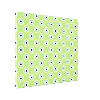 Círculos verdes de la combinación impresión en lona estirada