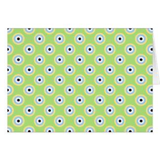 Círculos verdes de la combinación tarjeta de felicitación