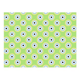 Círculos verdes de la combinación postal