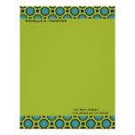 círculos verdes de la turquesa membrete a diseño