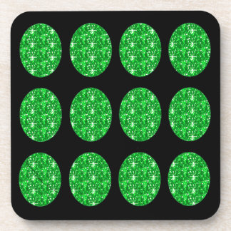 Círculos verdes determinados del brillo del prácti posavaso