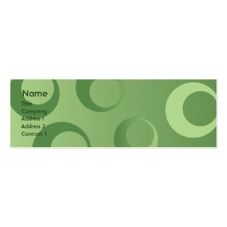 Círculos verdes - flacos tarjetas de visita mini