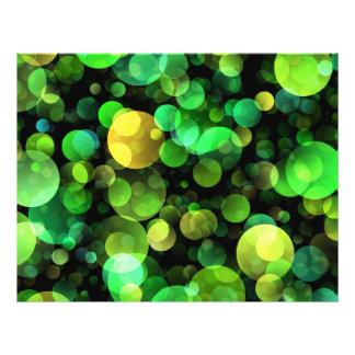 """Círculos verdes folleto 8.5"""" x 11"""""""