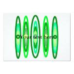 Círculos verdes frescos invitación 12,7 x 17,8 cm