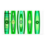 Círculos verdes frescos tarjetas de visita