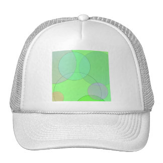 Círculos verdes gorra