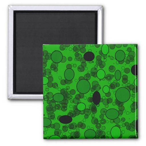 círculos verdes imán cuadrado