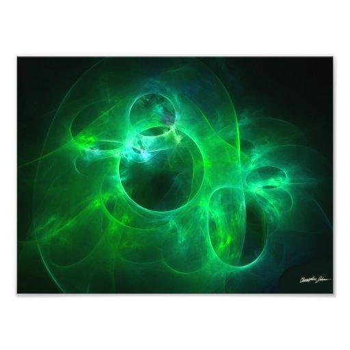 Círculos verdes impresiones fotograficas