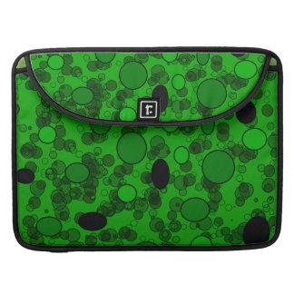 círculos verdes negros fundas macbook pro