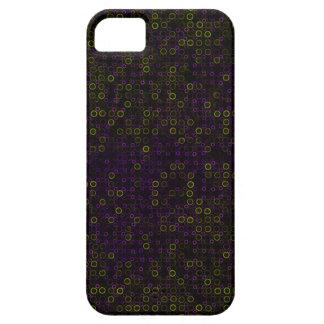 Círculos verdes púrpuras funda para iPhone SE/5/5s