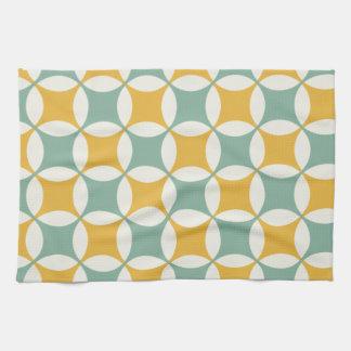 Círculos verdes y amarillos toallas de cocina