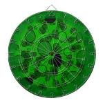 Círculos verdes y negros tabla dardos