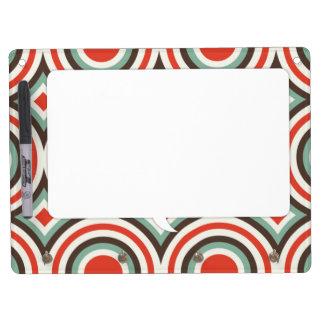 Círculos verdes y rojos pizarras blancas de calidad