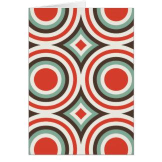 Círculos verdes y rojos tarjeta de felicitación