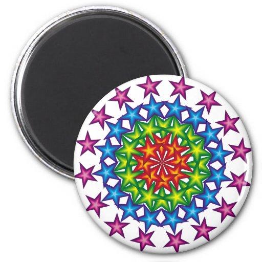 círculos vivos de las estrellas imán redondo 5 cm