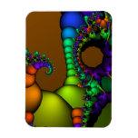 Círculos y burbujas del fractal imanes