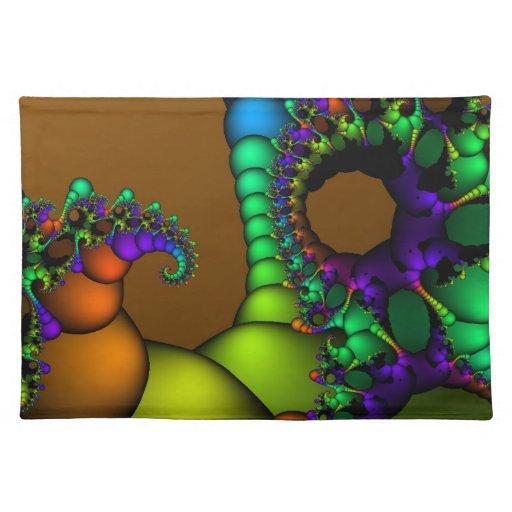 Círculos y burbujas del fractal manteles