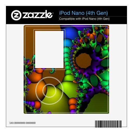 Círculos y burbujas del fractal calcomanía para iPod nano