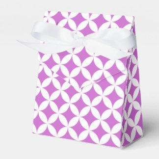 Círculos y caja elegantes del favor de los cajas para detalles de boda