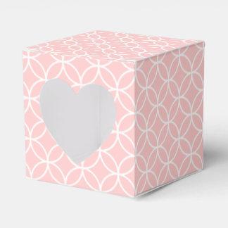 Círculos y caja elegantes del favor de los cajas para regalos de boda