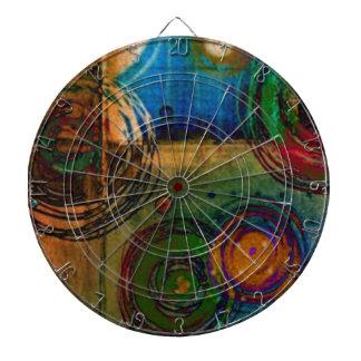 Círculos y color… Art abstracto Tablero Dardos