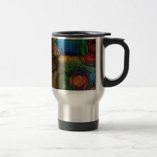 Círculos y color… Art. abstracto Tazas De Café