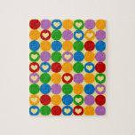 Círculos y corazones puzzle con fotos