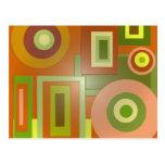 círculos y cuadrados amarillos postales