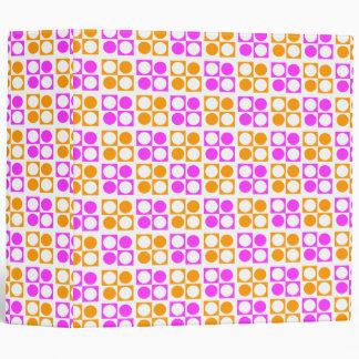 Círculos y cuadrados anaranjados rosados retros