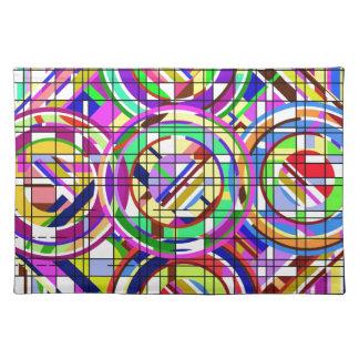 círculos y cuadrados mantel