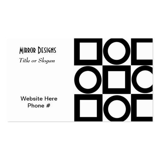 Círculos y cuadrados negros modernos plantilla de tarjeta personal