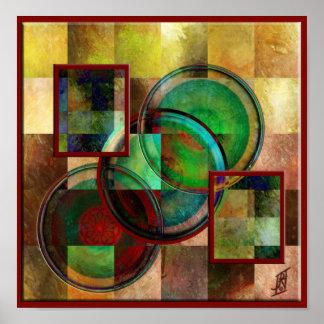 Círculos y cuadrados impresiones