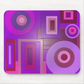 círculos y cuadrados púrpuras alfombrillas de ratones