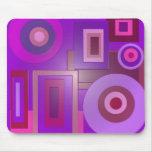 círculos y cuadrados púrpuras tapetes de raton