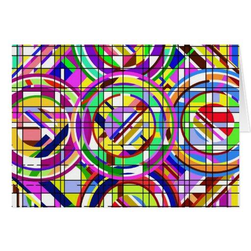 círculos y cuadrados tarjetas