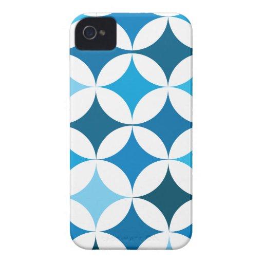 Círculos y diamantes retros geométricos modernos Case-Mate iPhone 4 protectores