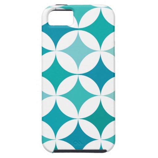 Círculos y diamantes retros geométricos modernos funda para iPhone SE/5/5s