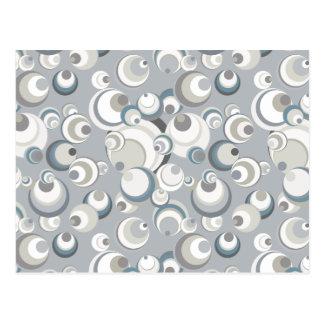 Círculos y esferas blanco gris y azul tarjetas postales