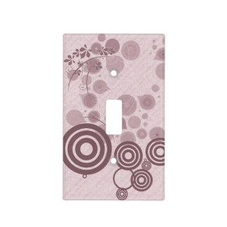Círculos y floral tapa para interruptor